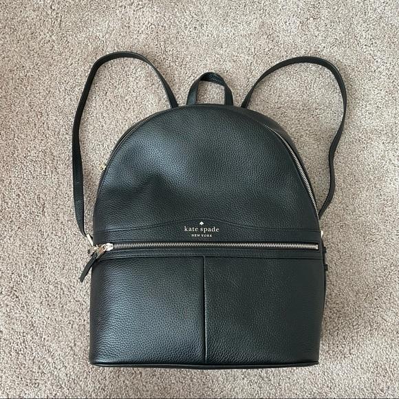 Kate Spade Karina Large Black Leather Backpack